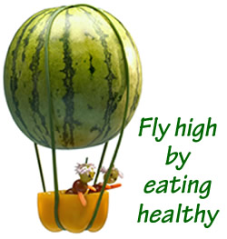 Fly high by eating healthy