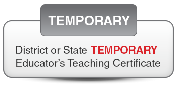 Temporary Certificate