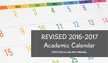 REVISED 2016-2017 Academic Calendar