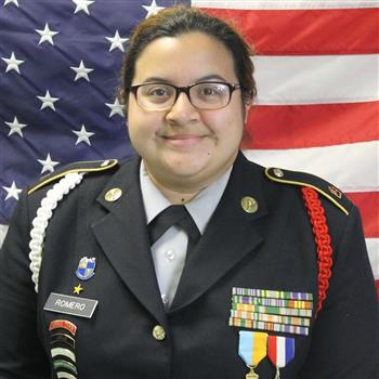 C/MSG Battalion Automation Officer Amanda Romero