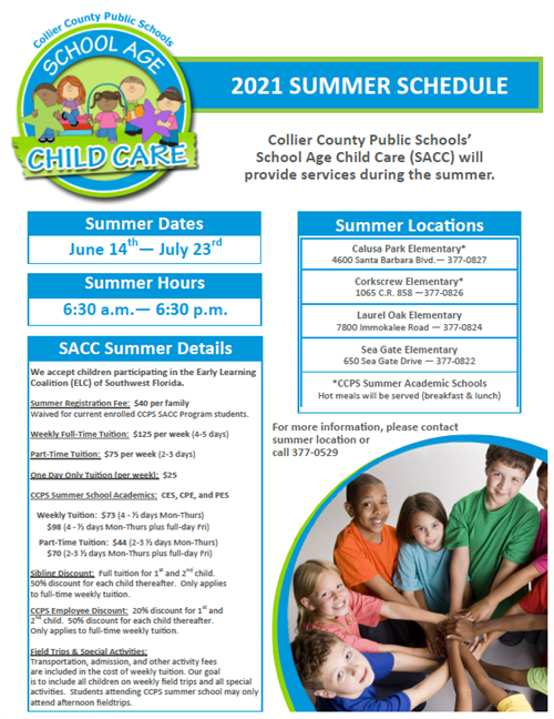 2021 Summer SACC Program