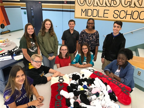 CMS did a great job and collected 270 pair of socks!