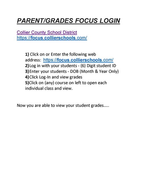 Focus Parents Login