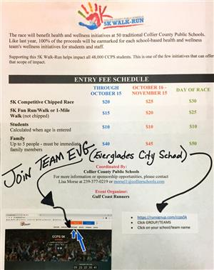 Join the Everglades City School TEAM at the CCPS 5K!