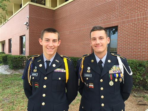 Two Cadets From Naples High School JROTC Are Awarded Navy ROTC