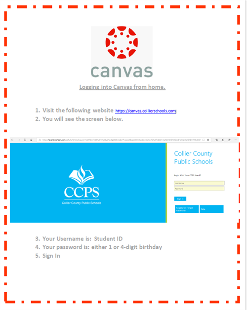 Log into Canvas from anywhere